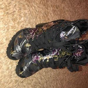 Steve Madden Floral High Heel Booties